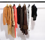A group of seven designer jackets, mostly leather