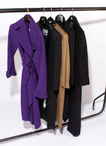 A group of five designer coats