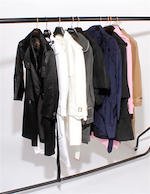 A group of nine designer coats