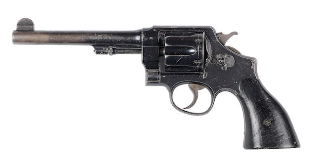 A customised .455 'Mark II Hand Ejector Second Model' by Smith & Wesson, no. 8728/25656