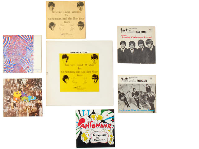 The Beatles: A group of Beatles Fan Club records,