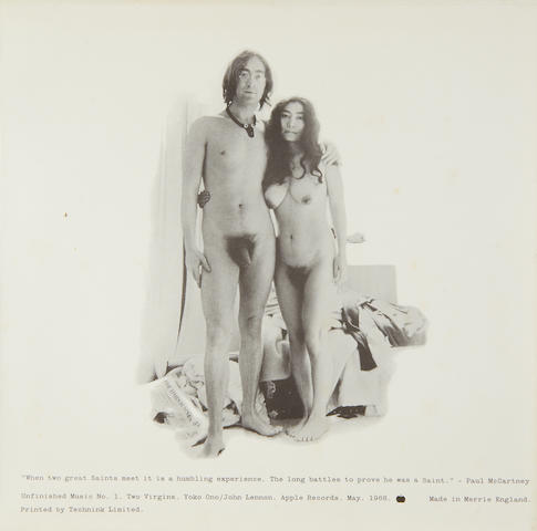 John Lennon & Yoko Ono: An unused cover for the album 'Unfinished Music No. 1: Two Virgins',