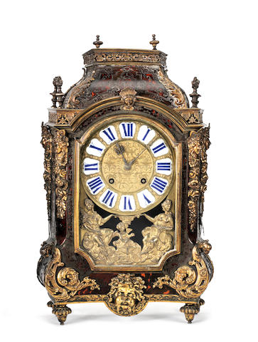 An early 18th century boulle table clock Gribelin, Paris