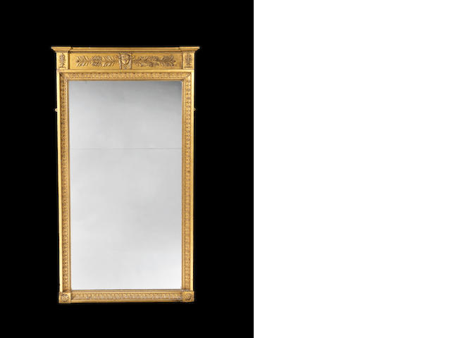 A Regency giltwood framed pier mirror