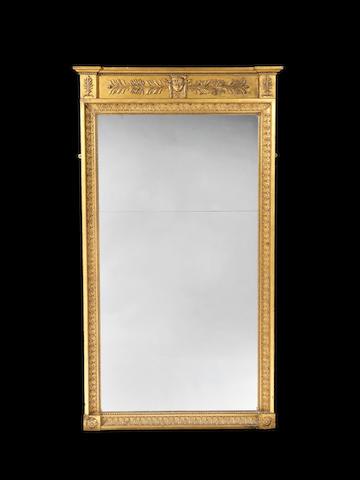 A Regency giltwood framed pier mirror