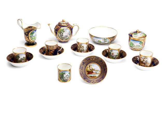 A Sèvres porcelain tea set Circa 1776