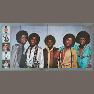 The Jackson Five: A Destiny album  siged on the inner gatefold sleeve by each band member,