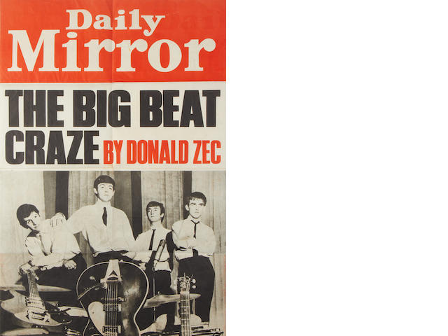 The Beatles: A 'Daily Mirror' Beatles poster,  1963,