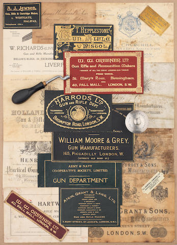 A collection of gunmaking memorabilia