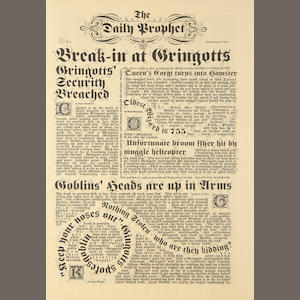 Harry Potter: A prop Daily Prophet newspaper,