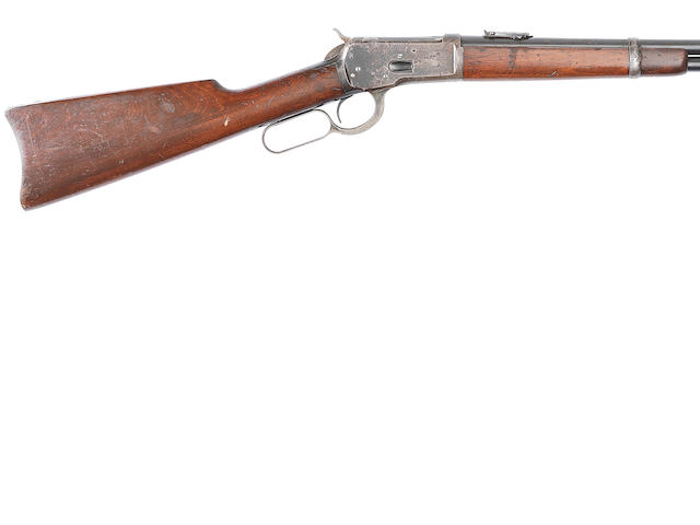 A .44 (W.C.F.) 'Model 1892' underlever saddle-ring carbine by Winchester, no. 471423