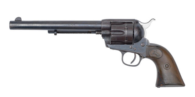 A .45 (Colt) 'Single Action Army' service revolver by Colt, no. 121030