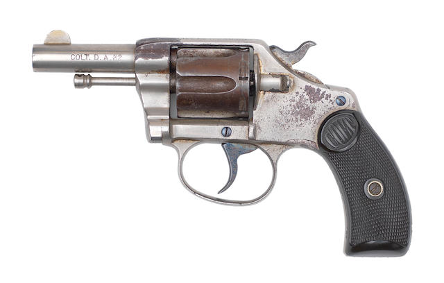 A .32 (Colt) 'New Pocket' revolver by Colt, no. 847 Retailed by W.T. Hancock & Co.