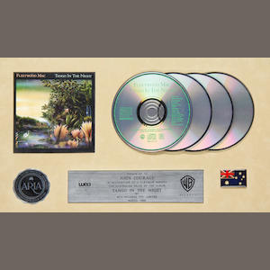 Fleetwood Mac: A multi-platinum award for the CD album 'Tango In The Night', Australia, 1990,