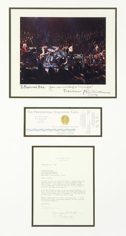 Fleetwood Mac: A group of items relating to the Inauguration of President Bill Clinton, January 1993,