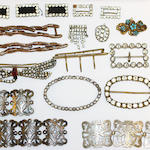 A mixed lot of old costume and other jewellery, (Qty)