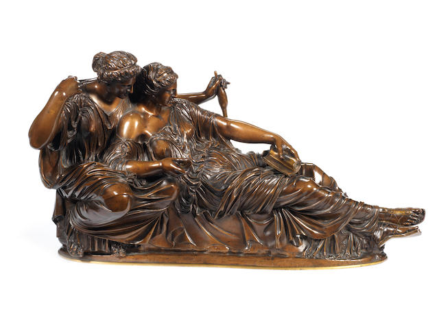 A bronze « Les parques » by Barbedienne after a model by Clesinger
