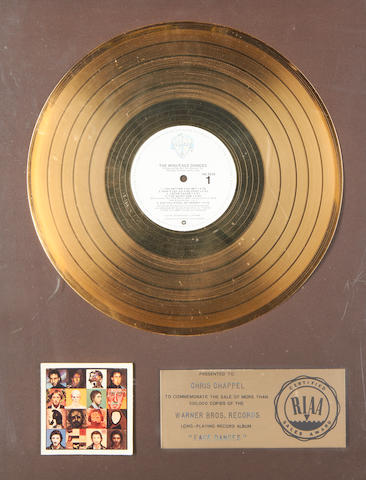 The Who: a presentation 'gold' sales award for the album 'Face Dances', 1981,