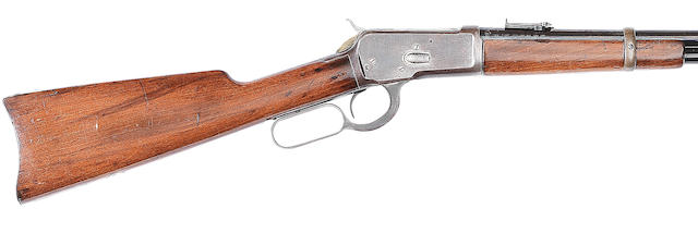 A .44 (W.C.F.) 'Model 1892' underlever saddle-ring carbine by Winchester, no. 791949