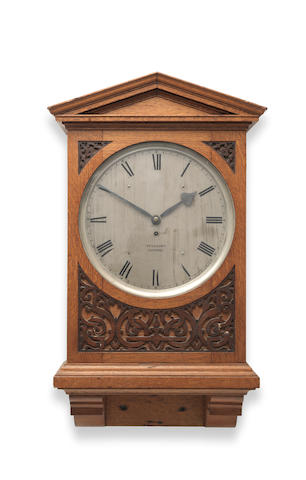 A good second quarter of the 19th century oak wall timepiece  Vulliamy, London, No 1721