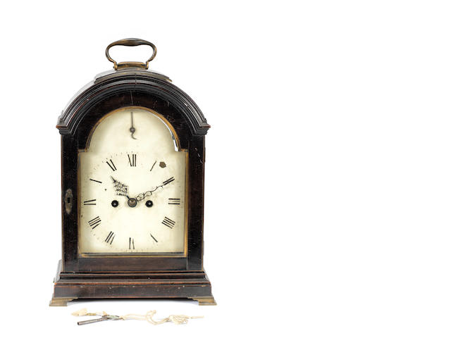 An early 19th century ebonised table clock  Thomas Simson, Hertford