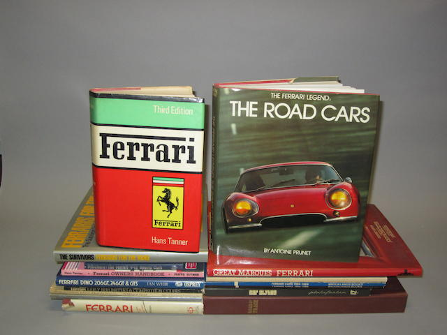 A lot of Ferrari reference books,