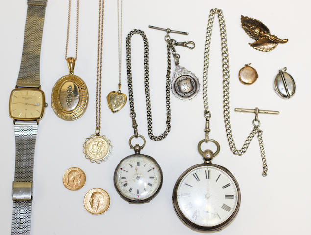 A collection of jewellery and watches,