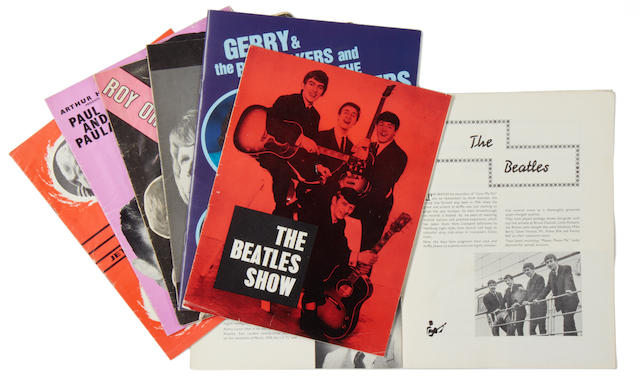 Beatles/Jimi Hendrix and other UK concert programmes, 1960s,
