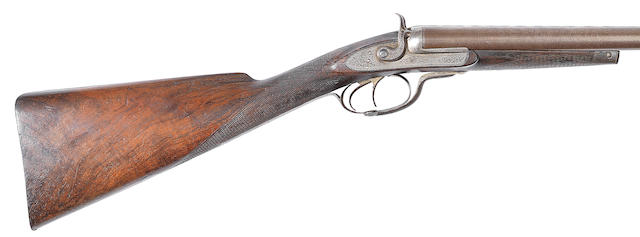 A MacNaughton-patent 10-bore (2 5/8in) 'Lockfast' sidelock hammer gun, no. 1295