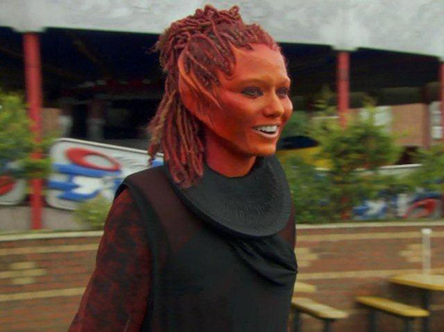 The Sarah Jane Adventures, Series 3 - The Mad Woman In The Attic: A complete Eve costume, 2008, comprising; 9