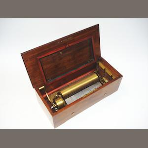 A key-wind two-per-turn musical box, by Nicole Freres, circa 1865,