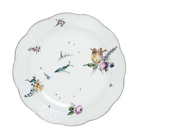 A large Meissen dish Circa 1750