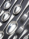 A canteen of silver Old English and Hanoverian pattern cutlery for twelve place settings by Jackson and Fullerton, London, 1913,