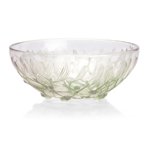 A Rene Lalique 'Gui' bowl Design 1921