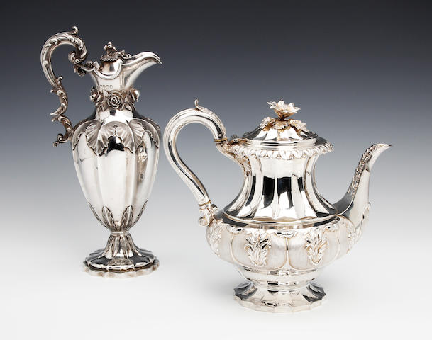 A William IV silver ewer by Messrs. Barnard, London 1834