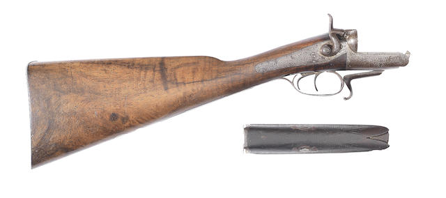 The parts of a 12-bore hammer gun by Purdey (2)