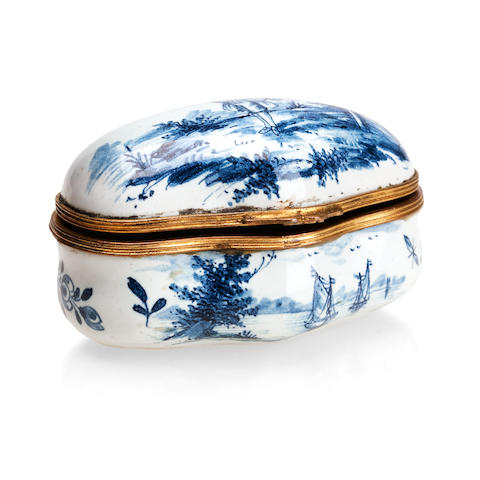 A Dutch Delft snuff box Early 19th century
