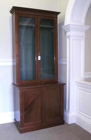 A 19th century mahogany gun cabinet