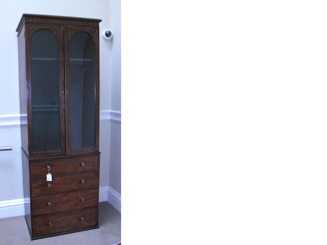 A 19th century mahogany gun cupboard
