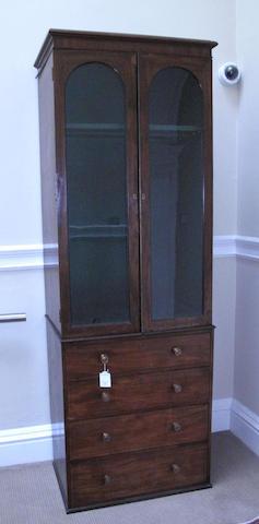 A 19th century mahogany gun cupboard