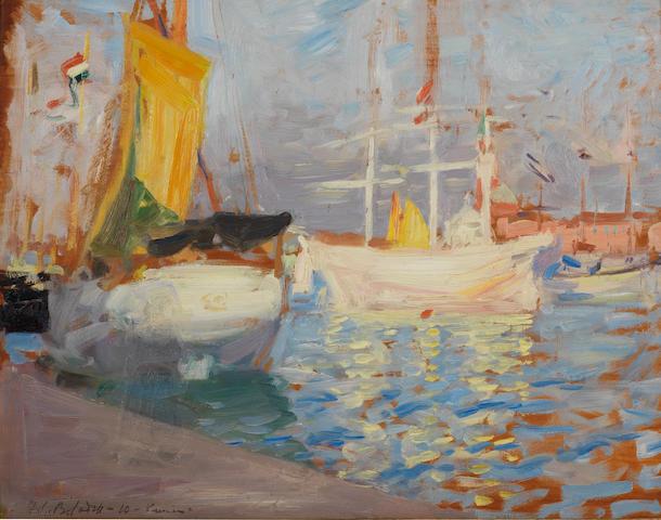 Francis Campbell Boileau Cadell, RSA RSW (British, 1883-1937) Venice 36 x 46.6 cm. (14 1/4 x 18 1/4 in.)