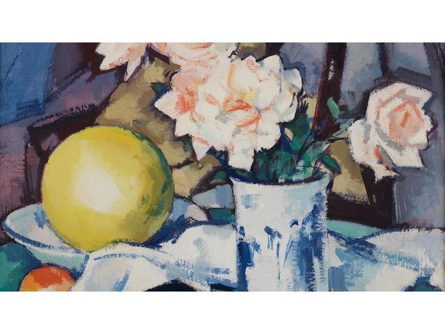 Samuel John Peploe, RSA (British, 1871-1935) Roses and Chinese Blue