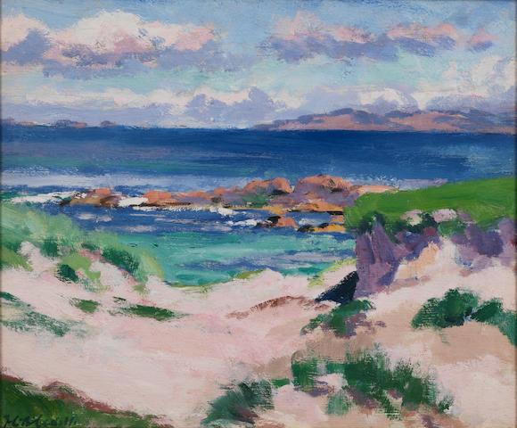 Francis Campbell Boileau Cadell, RSA RSW (British, 1883-1937) Iona 35.5 x 43 cm. (14 x 16 3/4 in.)
