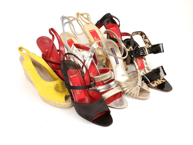 Nine pairs of designer shoes