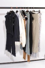A group of fifteen various designer garments