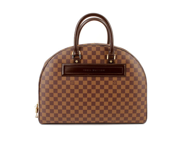 A Louis Vuitton damier bowler bag