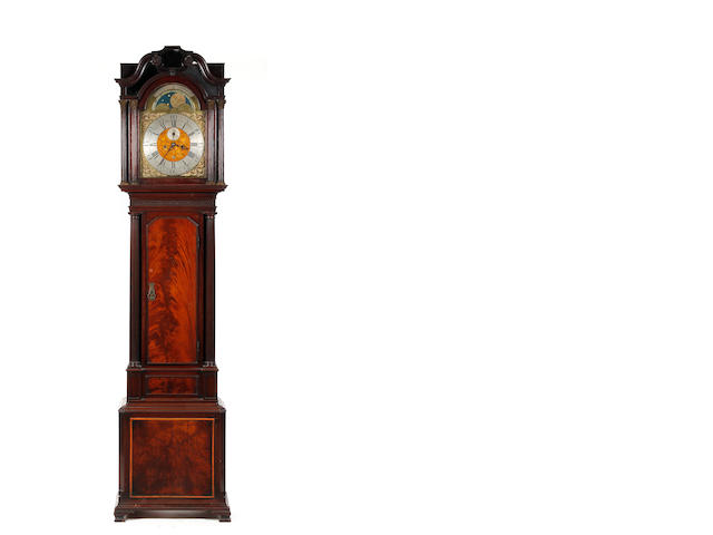 A late 18th century figured mahogany 8 day longcase clock J. Furnas. Liverpool