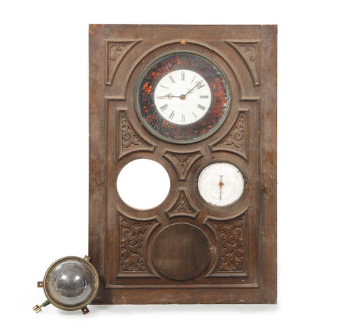 A 19th Century compendium wall panel clock/timepiece Whitehurst, Derby