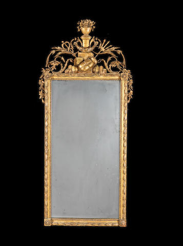 A neo classical giltwood framed wall mirror