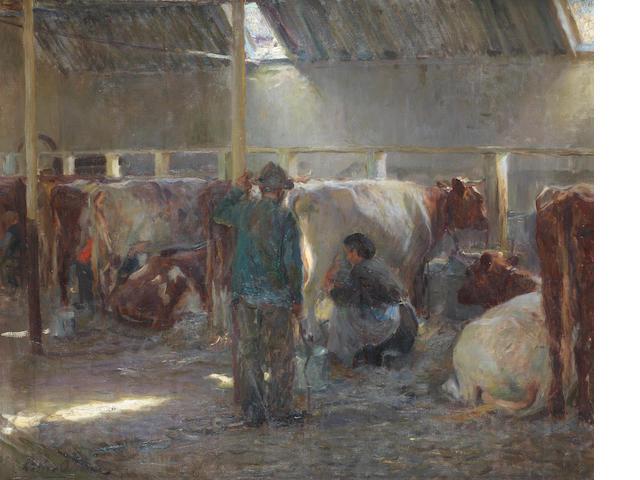 Walter Frederick Osborne RHA, ROI (Irish, 1859-1903) Milking time